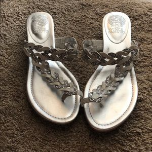 Sparkly Silver Vince Camuto Sandals